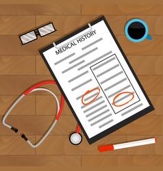 Concept doctor treats patient vector