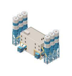 Concrete production plant composition vector