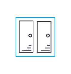 Cupboard linear icon concept cupboard line vector