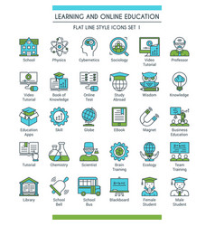 Education icons set 01 vector