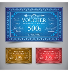 Elegant Voucher Design vector