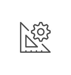 Engineering line icon vector