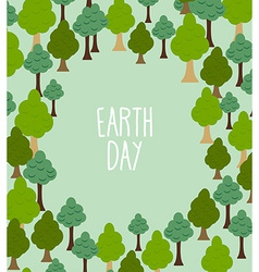 forest pattern Background of trees Earth day vector image