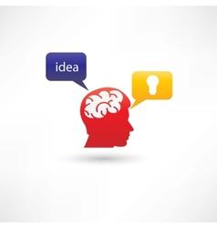 Fresh interesting idea icon vector