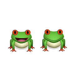 front view 3d red eye frog vector image