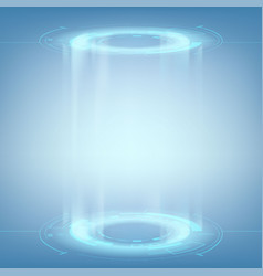 Futuristic portal for teleportation vector