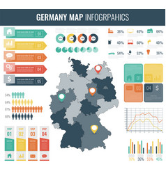 germany map with infographic elements vector image