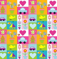 Gift wrapping paper background for kids vector image