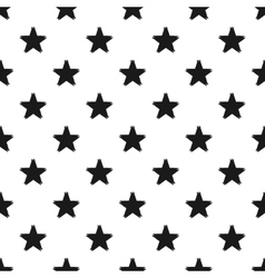 Grunge seamless pattern of black stars on white vector image vector image