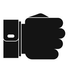 hand fist icon simple black style vector image