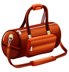 Handbag in round shape vector