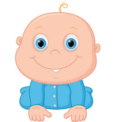 Happy baby boy cartoon vector