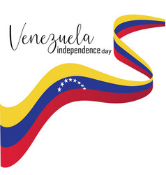 happy venezuela independence day vector image