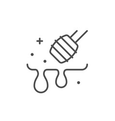 honey dipper line outline icon vector image