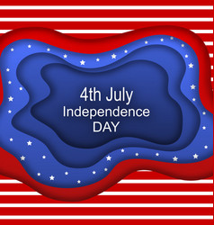 invitation for fourth july independence day of vector image