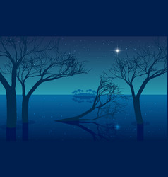 landscape mangrove forest on beach in n vector image