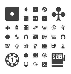luck icons vector image