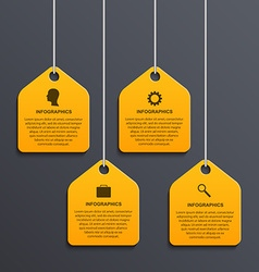 Modern infographic options banner Design elements vector