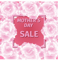 mother s day sale card with carnation flowers vector image