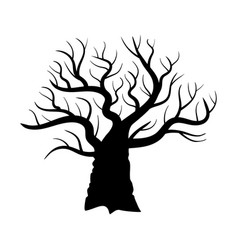 Naked oak silouette vector