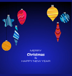 new year dark blue background vector image