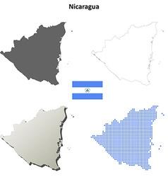 Nicaragua outline map set vector image