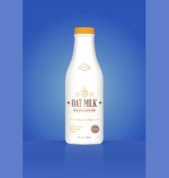 oat milk oatmeal bottle with colorful background vector image