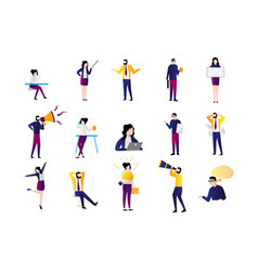 office workers casual happy vector image