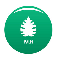 Palm leaf icon green vector