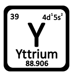 Periodic table element yttrium icon vector image