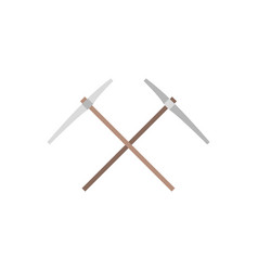 Pick-axe icon flat design vector