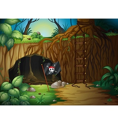 Pirate cave vector image