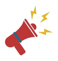 red megaphone icon vector image