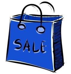 Sale bag icon vector image