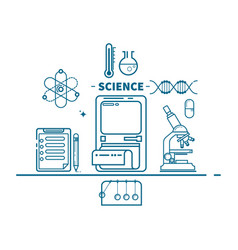 science concept header flat design vector image