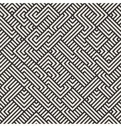 Seamless Irregular Maze Geometric Pattern vector image
