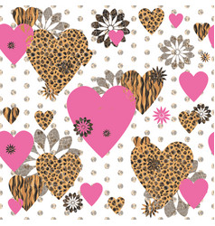 seamless valentine patterned texture vector image