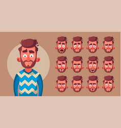 Set characters emotions vector
