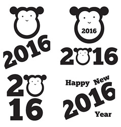 Set of 2016 year vector