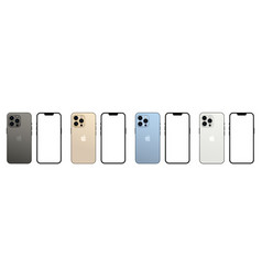 Set of new iphone 13 pro vector