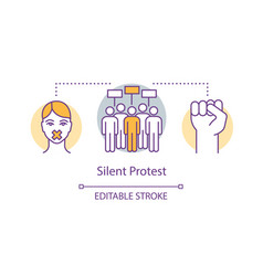 Silent protest concept icon civil disobedience vector