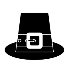 Silhouette saint patrick day top hat with buckle vector