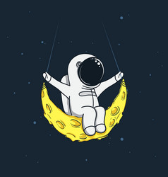 spaceman sway on the moon vector image