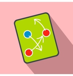 Tactic strategy on a digital tablet flat icon vector