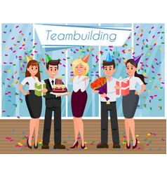 teambuilding concept flat vector image