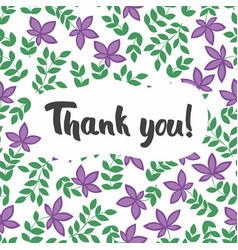 thank you postcard seamless pattern with vector image