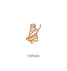 Thread concept 2 colored icon simple line element vector