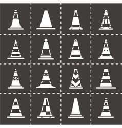 Traffic cone icon set vector