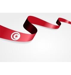 Tunisian flag background vector