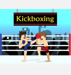 Two boxer are fighting in boxing stadium vector